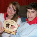 Virginie et Micka avec leur trophée
