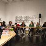Lecture performance von CALL im Kontext der Ausstellung  FEMINISTISCHE AVANTGARDE