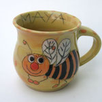 """Kindertasse Mini """"Kleine Biene"""" / Artikel - Nr. 5030 /  14,- € plus Name = + 3 €  ( H 7 cm ∅ 7,5 cm, 170 ml)"""