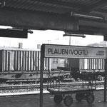 """Ausreise  - """"Vogtlandroute"""", Bahnhof Plauen"""