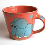 "Katzentasse ""Elefant""  Maxi  Artikel - Nr. 5026  ( ca. H 8 X ∅ 9 cm, 220 ml ) / 15,- €"