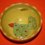 """Kinder - Keramikschüssel """"Vögelchen"""" / Artikel - Nr. 5208/ 14,- €"""