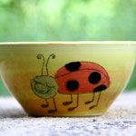 "Kinder - Keramikschüssel ""Marienkäferchen"" / Artikel - Nr. 5210/ 14,- €"