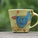 "Kindertasse Mini / Motiv: ""Vögelchen"" Artikel - Nr. 5003/ 14,00 € ( H 7 cm ∅ 7,5 cm)"