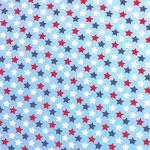bunte Sterne auf hellblau