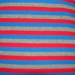 Streifen rot-blau-grau
