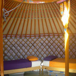 interior de la yurta
