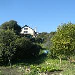 La cocina vista desde el huerto