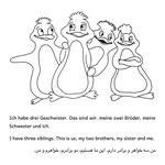 Trilinguales Ausmalbuch Seite 4