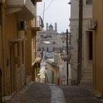 Une rue d'Ermoupolie sur Syros