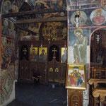 Intérieur de la chapelle d'Agia Triada