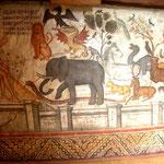 La fresque de la nomination des êtres par Adam, Agio Nicholaos