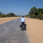 Route au Cambodge, vers Kep