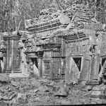 LLe temple de Bantaey Sraey lors de la visite de Malraux (1923)