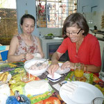 Cours de fabrication de nems avec Thao
