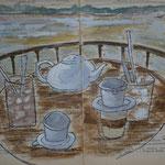 Café frappé sur Mékong