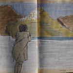 Joelle en contemplation sur Sérifos