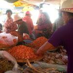 Marché aux crevettes de Kampot