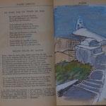 une page sur Santorin