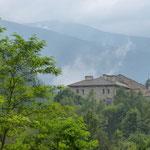 Le monastère de Rila vu de notre chambre