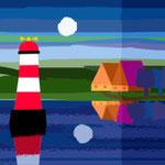 Maritime Landschaft Leuchtturm BESTNR ML-01