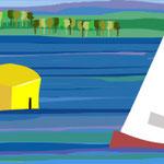 Maritime Landschaft Jolle BESTNR ML-03