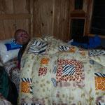 Übernachtung in Shyala bei 0 Grad - aber immerhin eine Decke