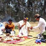Rituals of a shaman.