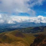 Blick auf Otavalo vom Gipfel des Vulkan Fuya Fuya.