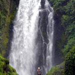 Cascada de Peguche in Großaufnahme.