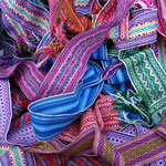 Colorful Fajas. The belts of indigenous women.
