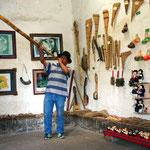 Dieses Instrument diente den Indigenen früher als Kommunikationsmittel.
