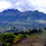 Der Vulkan Imbabura. Rechts im Berg ist das Herz zu erkennen.