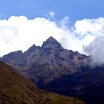 Der Gipfel des Vulkan Cotacachi (4.935m).