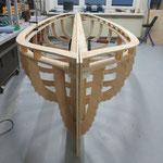 Grundkonstruktion Doppelbugboot Front