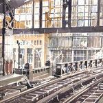Hamburger Hochbahn - Aquarellserie