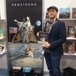 Vor dem (riesigen) Armstrong-Poster...