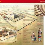 Die Grabanlagen des ersten Kaisers, Aquarell/Zeichnung/Digital; Stern Infografik, 2008