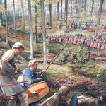 Die Schlacht am Harzhorn - Die Germanen geraten in einen römischen Hinterhalt