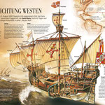 "Reconstruction of Christopher Columbus' Ship ""Santa Maria"""