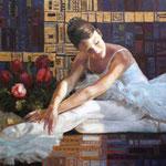 Балерина, Ballerina 40 х 60 cm, 2010, Oel auf Leinwand - unferkaeuflich