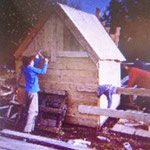 Hüttenbau, building huts