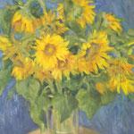 Sonnenblumen, 50cm x 40cm, 2014   , Oel auf Leinwand