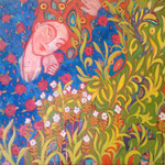 Traum, 90 x 100 cm, Oel + Acryl auf Leinwand
