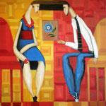 Das Geschenk, The gift, подарок, 60 x 70 cm, 2012, Oel auf Leinwand (verkauft, sold)