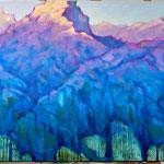 Die Sonne im Schatten, 73 x 130 cm, 2014, Oel auf Leinwand