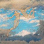 Freiflug, 120 x 150 cm, Oel auf Leinwand