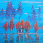 Herbstnebel, 50 x 70 cm, 2014  ,Oel auf Leinwand