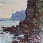 A 4, Krim, Aquarell  - verkauft / sold