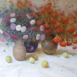 Herbststilleben, 120 x 150 cm, 2014, Oel auf Leinwand